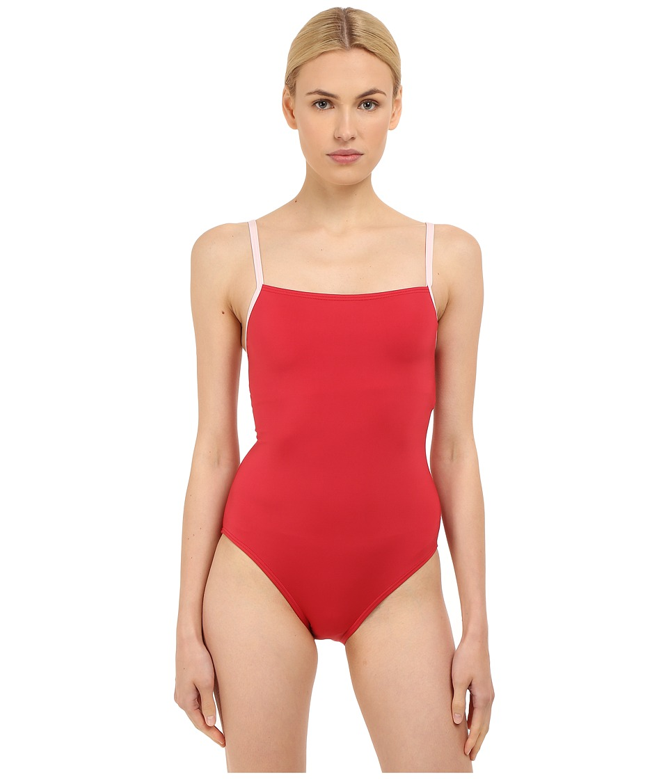 Kate Spade New York - Plage Du Midi Mailott (Posy Red) Women's Swimsuits One Piece
