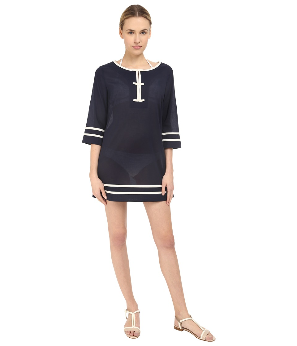 Kate Spade New York - Plage Du Midi Tunic Cover-Up (Rich Navy) Women's Swimwear