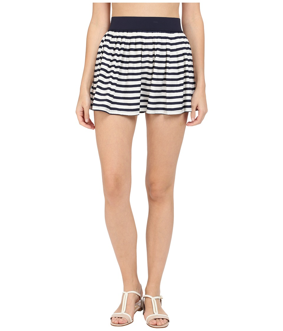 Kate Spade New York Nahant Shore Pleated Skirt Cover-Up (Rich Navy) Women