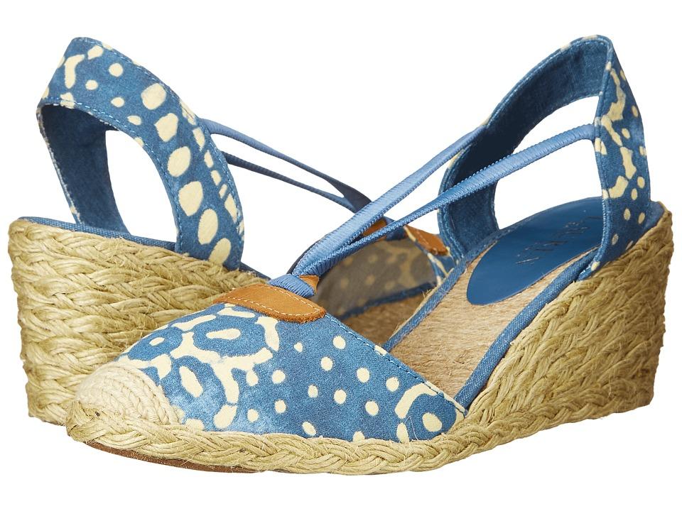 LAUREN Ralph Lauren - Cala (Wisteria/Wheat Batik Floral Cotton) Women's Wedge Shoes