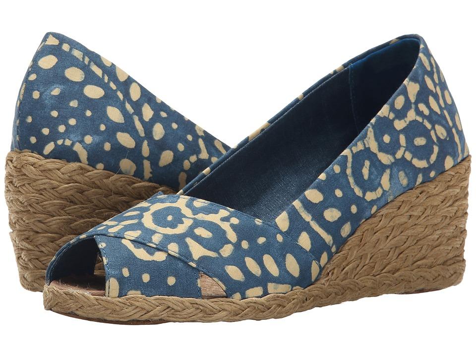 LAUREN Ralph Lauren - Cecilia (Wisteria/Wheat Batik Floral Cotton) Women's Wedge Shoes