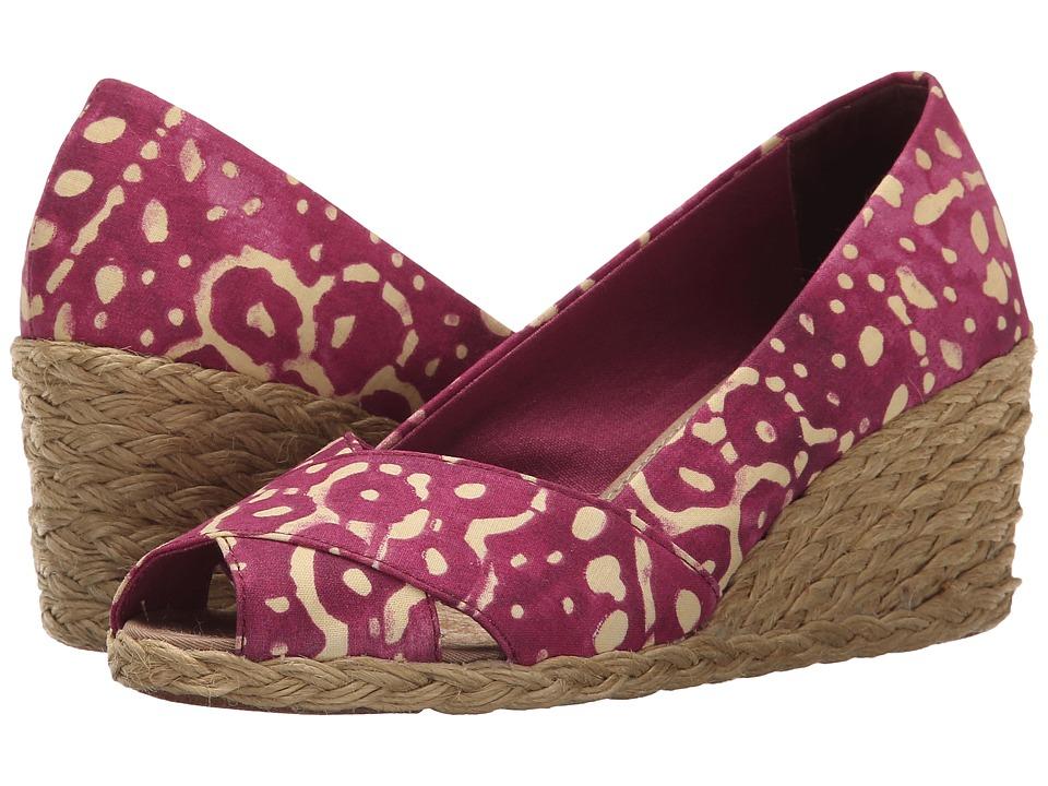 LAUREN Ralph Lauren Cecilia (Persimmon/Wheat Batik Floral Cotton) Women