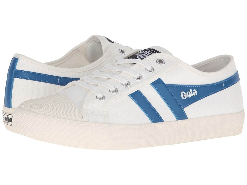 Gola - Coaster (Off-White/Ocean Blue) Men's Lace up casual Shoes