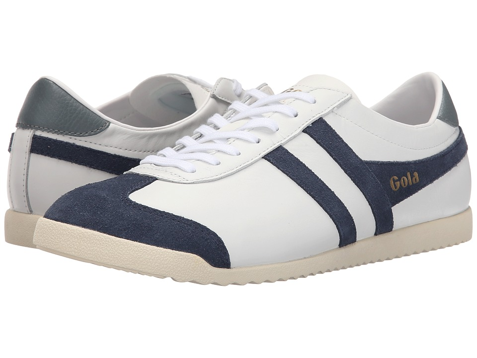 Gola - Bullet Leather (White/Navy) Men's Shoes