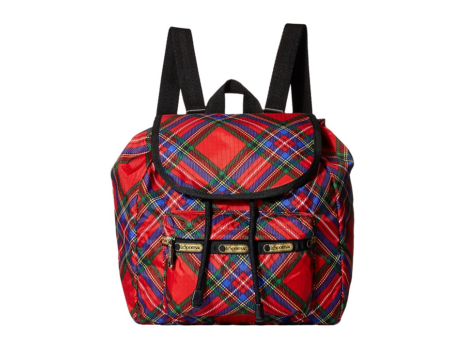 LeSportsac - Small Edie Backpack (Cozy Plaid Red) Backpack Bags