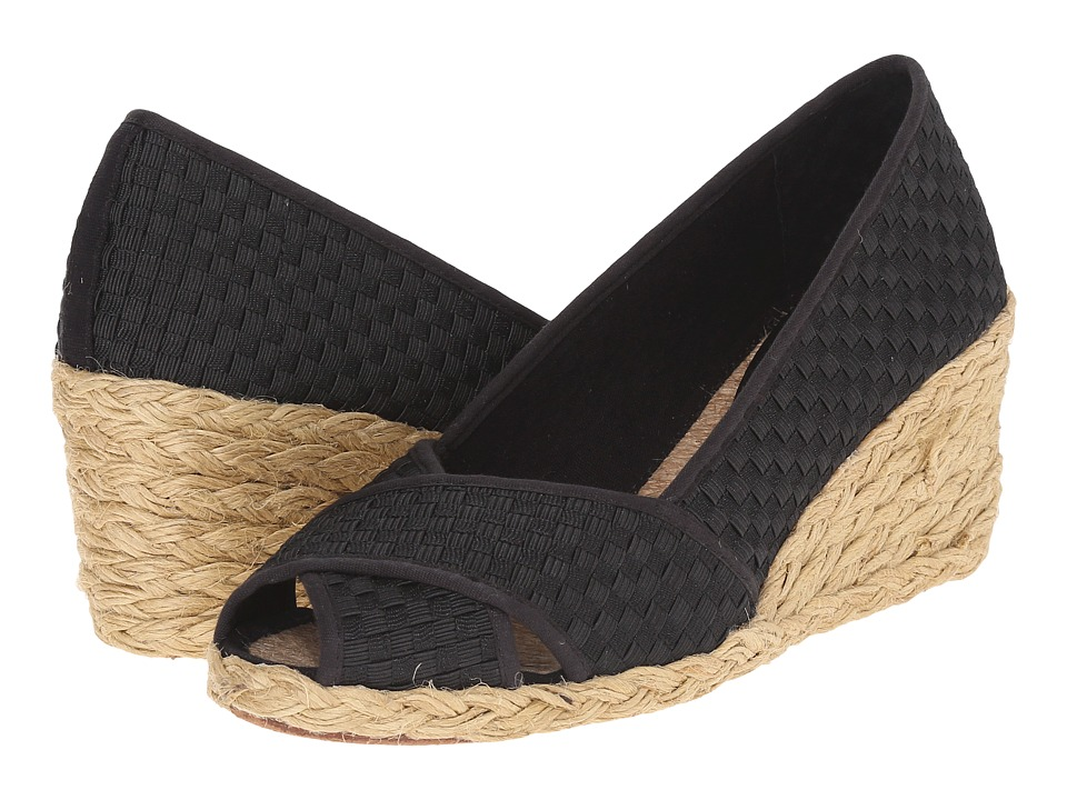 LAUREN Ralph Lauren - Cecilia II (Black Woven Cotton Cording) Women's Wedge Shoes
