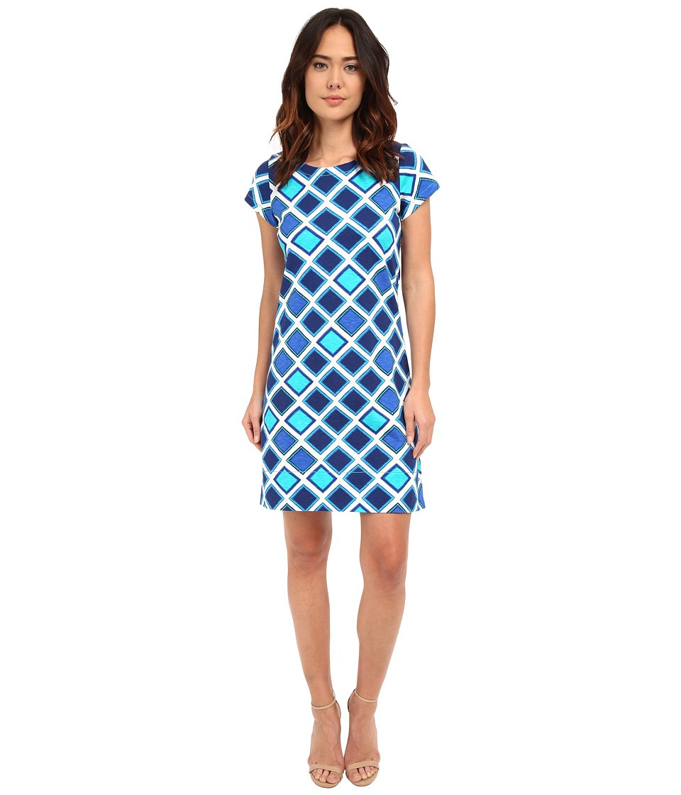 Hatley - T-Shirt Dress (Turquoise Aztec) Women's Dress