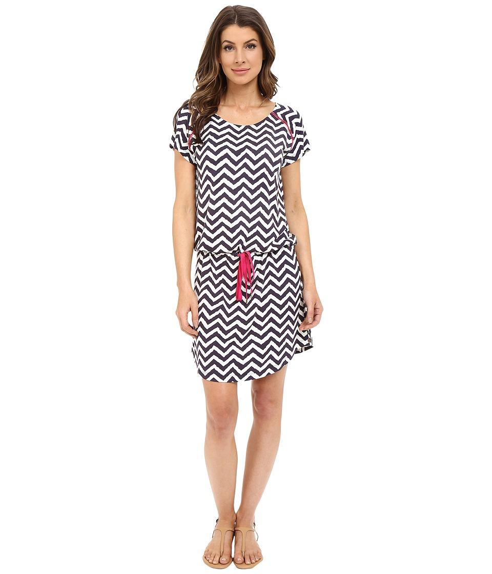 Hatley - Dropped Waist Dress (Navy/White Zigzag) Women's Dress