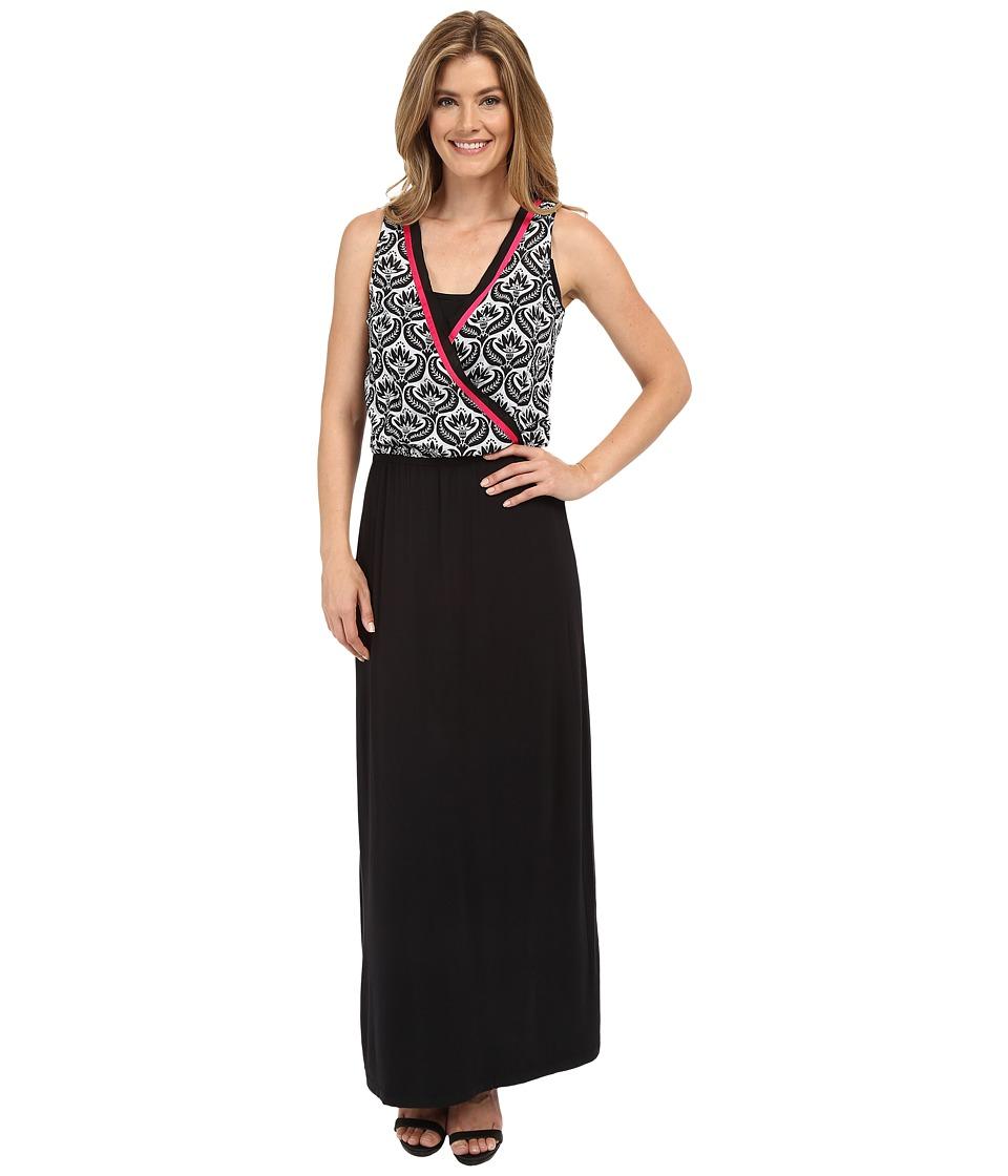 Hatley - Maxi Dress (Black/White Embossed Flowers) Women's Dress