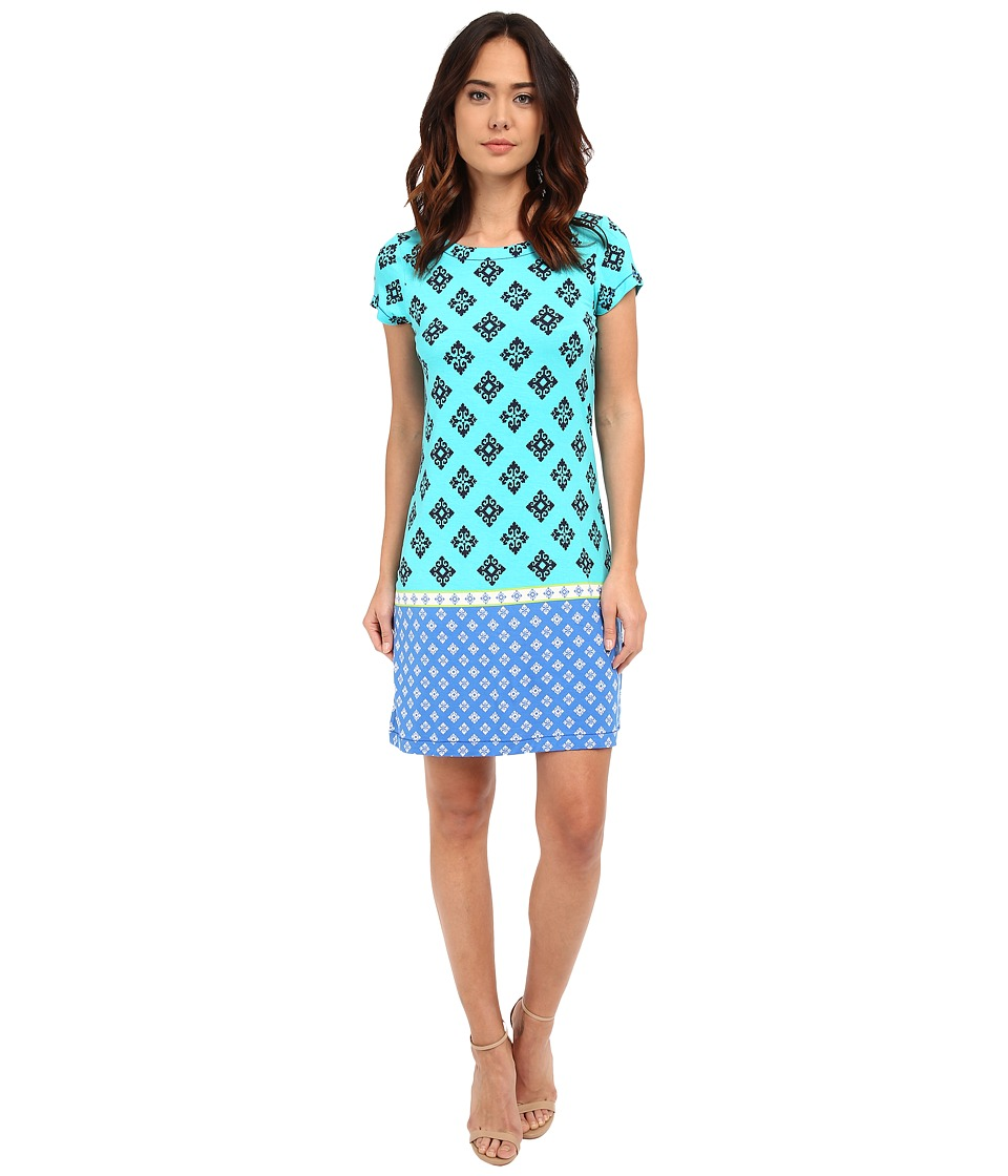 Hatley - T-Shirt Dress (Turquoise Mini Aztec) Women's Dress