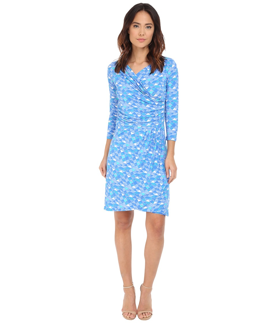 Hatley Faux Wrap Dress (Royal Triangles) Women