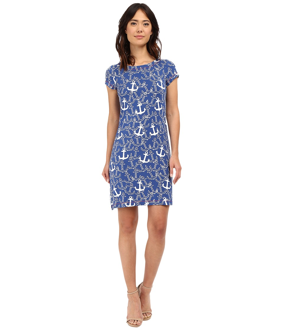 Hatley - T-Shirt Dress (Sapphire Painted Anchors) Women's Dress