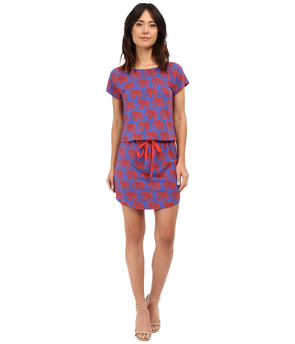 Hatley - Dropped Waist Dress (Orange Elephants) Women's Dress