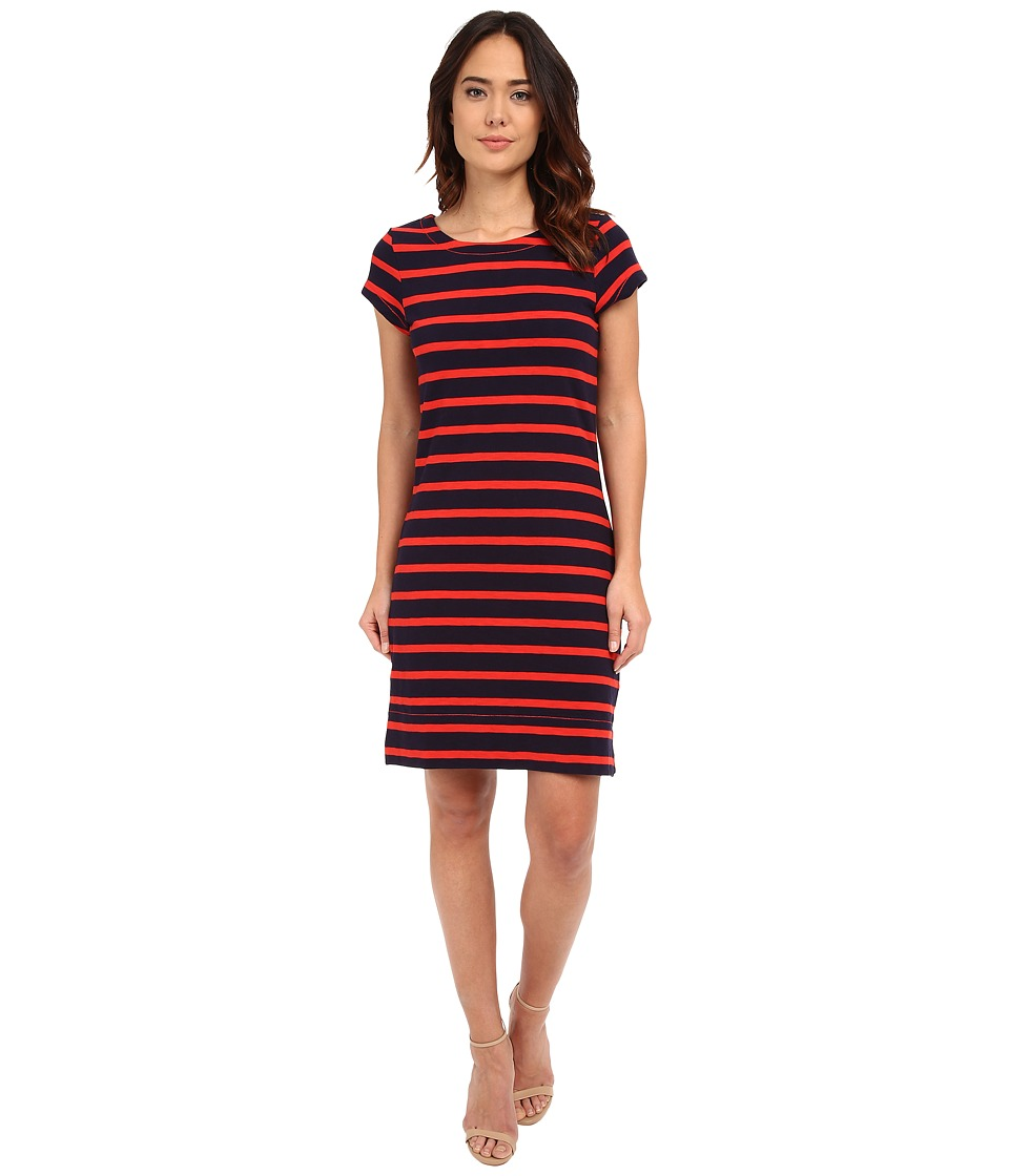 Hatley - T-Shirt Dress (Navy/Orange Stripe) Women's Dress