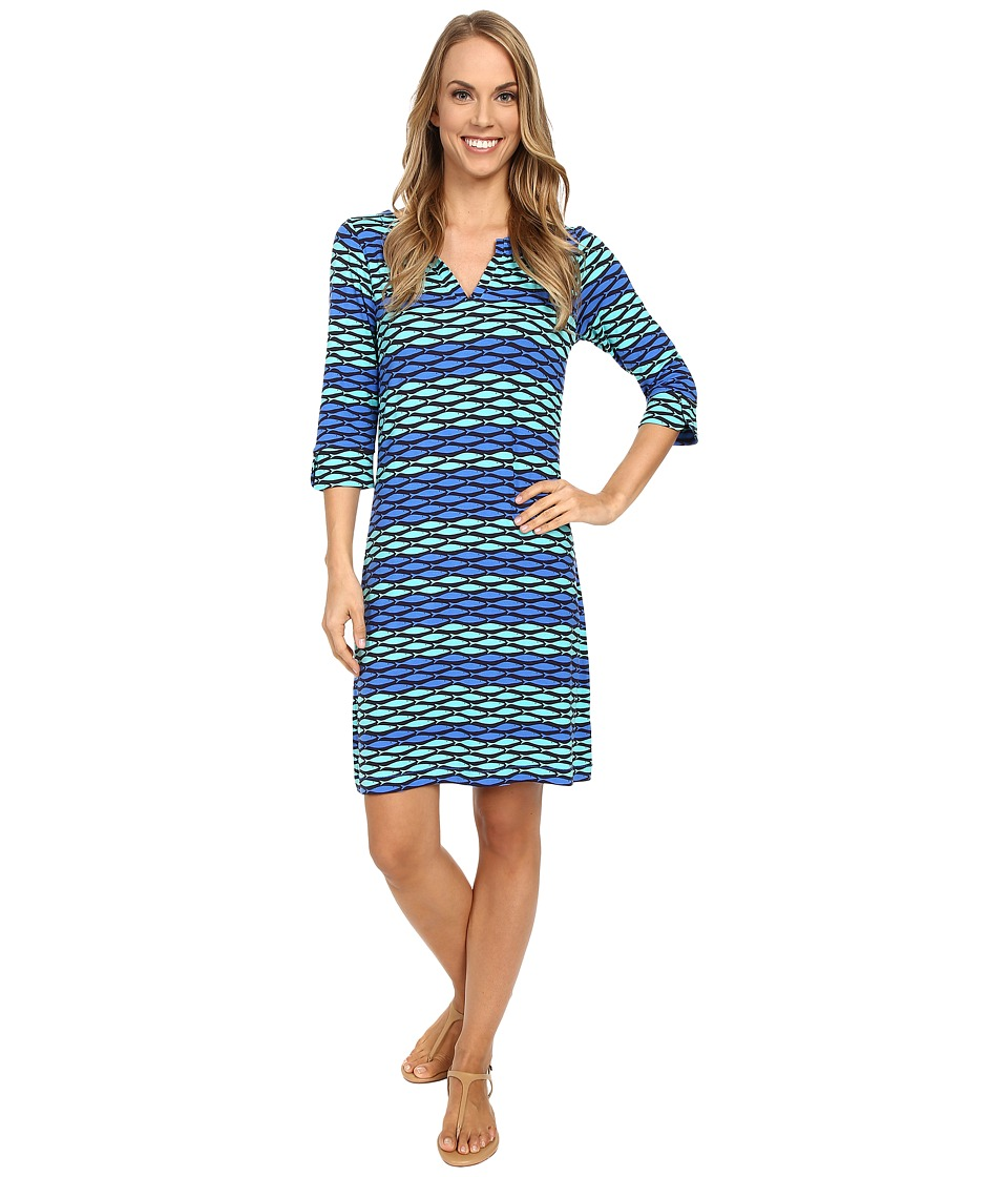 Hatley - Peplum Sleeve Dress (Tropical Fish) Women's Dress