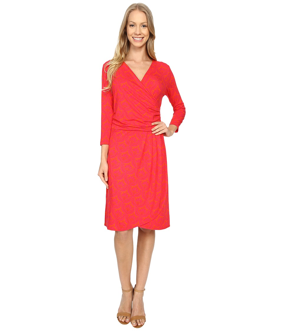 Hatley Faux Wrap Dress (Embossed Flowers) Women