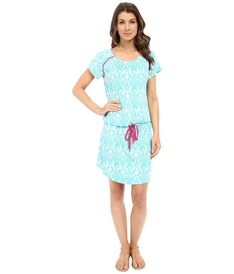 Hatley Dropped Waist Dress (Turquoise Ikat) Women