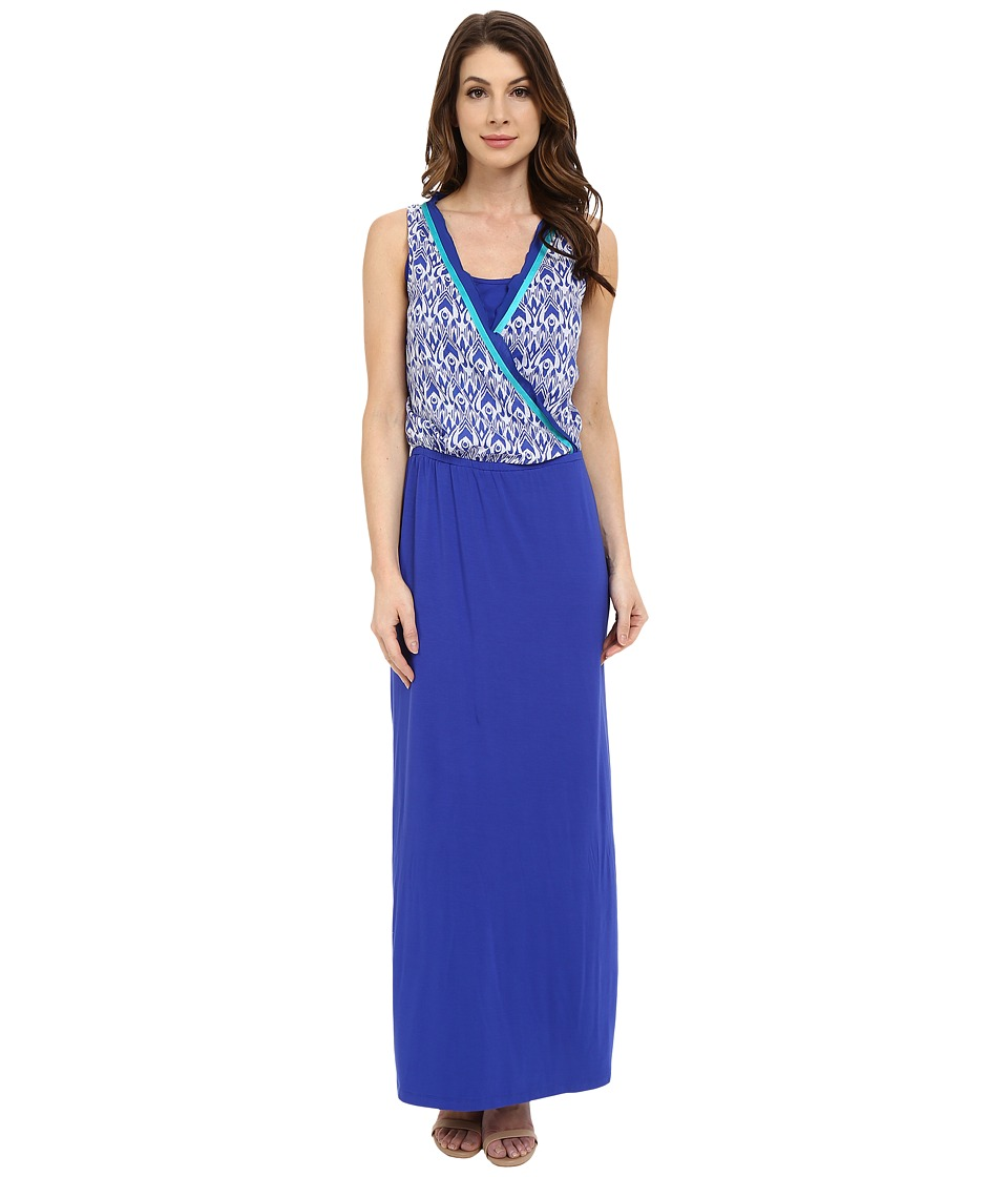 Hatley - Maxi Dress (Sapphire Ikat) Women's Dress