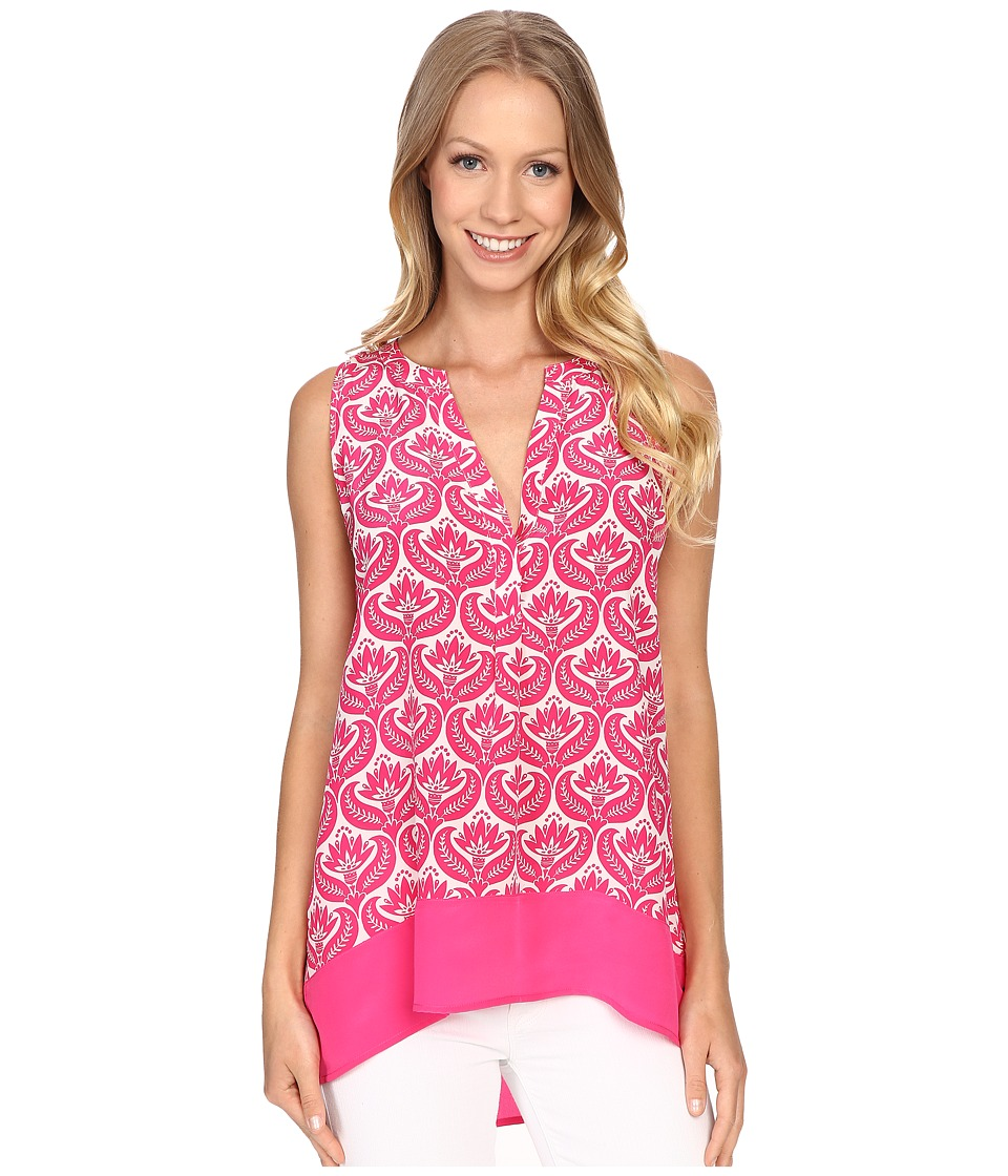 Hatley - Silk Blouse (Fuchsia Embossed Flowers) Women's Blouse plus size,  plus size fashion plus size appare