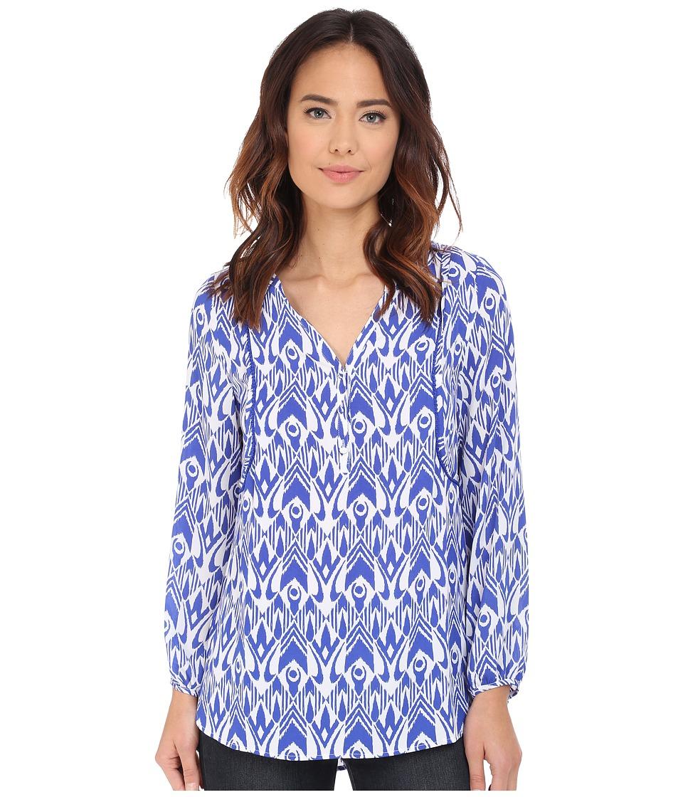 Hatley - Long Sleeve Blouse (Royal Ikat) Women's Blouse