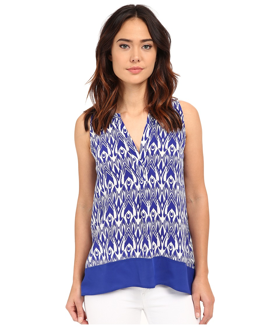 Hatley - Silk Blouse (Sapphire Ikat) Women's Blouse plus size,  plus size fashion plus size appare