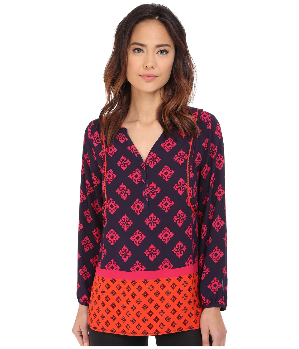 Hatley - Long Sleeve Blouse (Mini Aztec) Women's Blouse