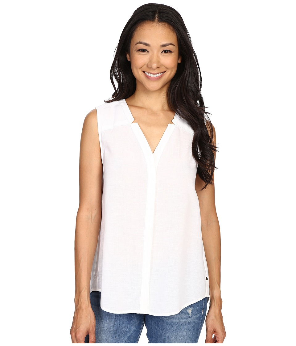 Hatley - Sleeveless Button Down Blouse (White) Women's Blouse