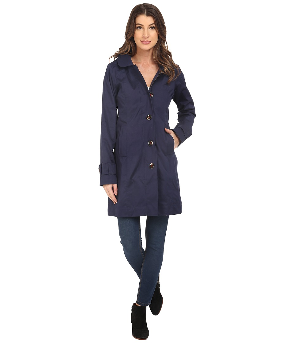 Hatley - Classic Raincoat (Navy/Floral Tapestry) Women's Coat