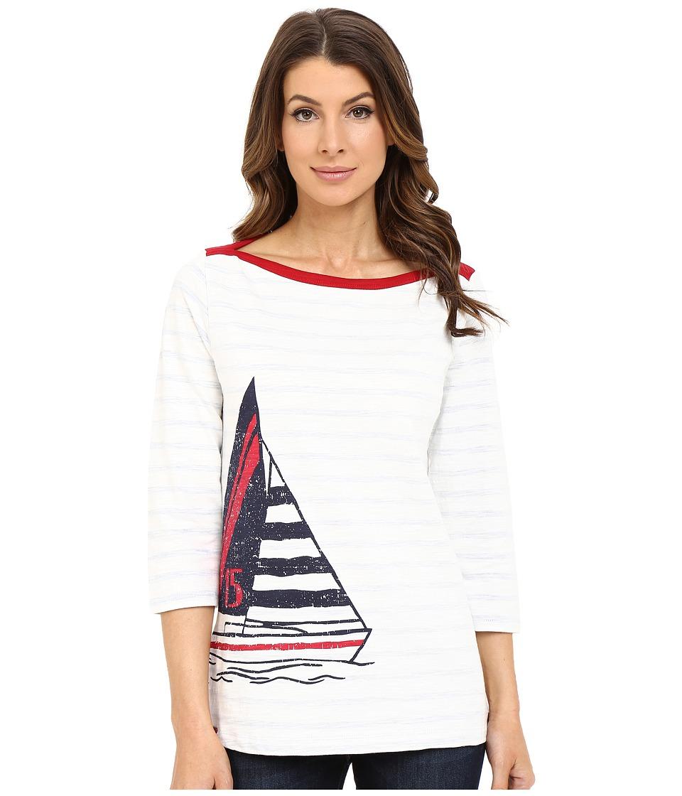 Hatley - Breton Top (Sailboat Stripes) Women's Clothing