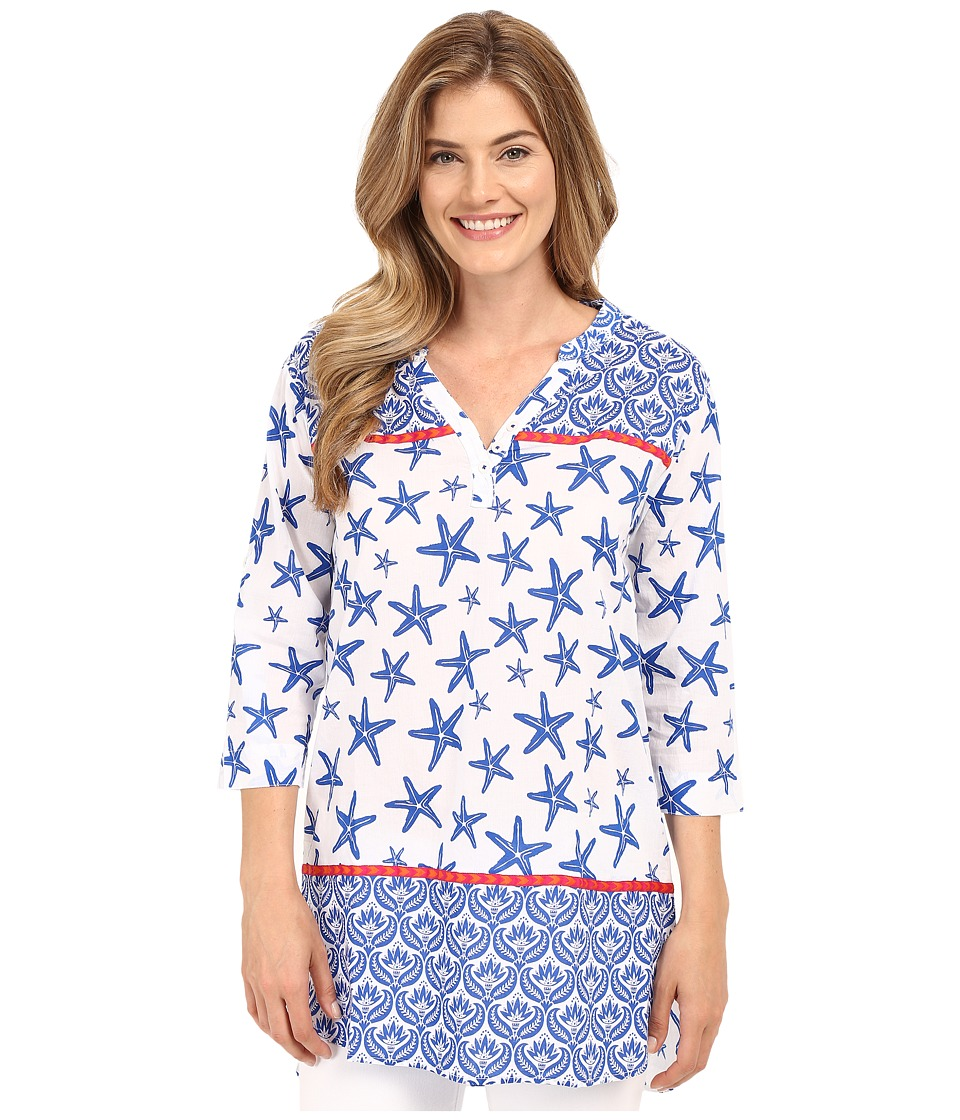Hatley - Starfish Women's Beach Tunic (Sapphire Starfish) Women's Clothing