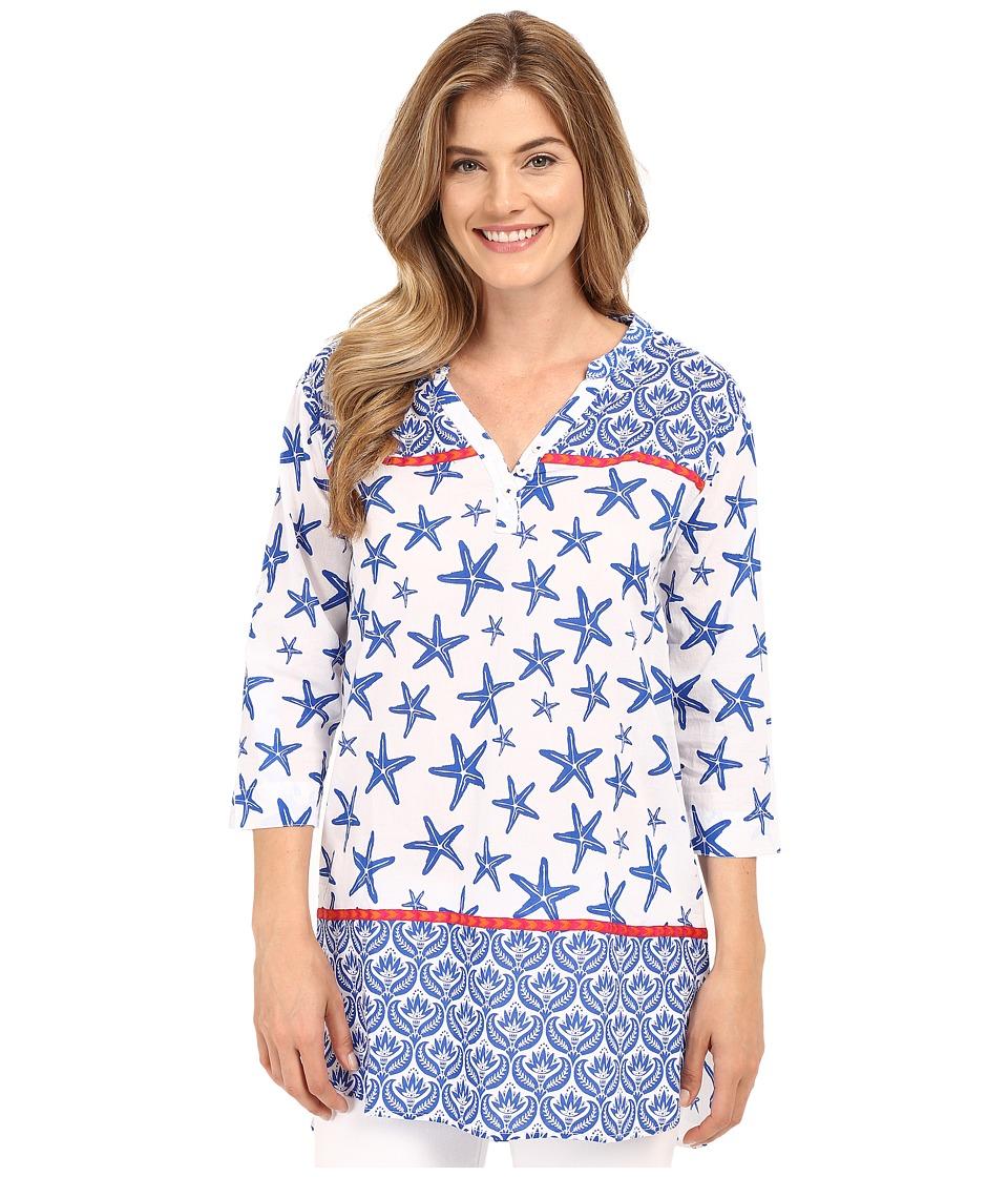 Hatley - Starfish Women's Beach Tunic (Sapphire Starfish) Women's Clothing
