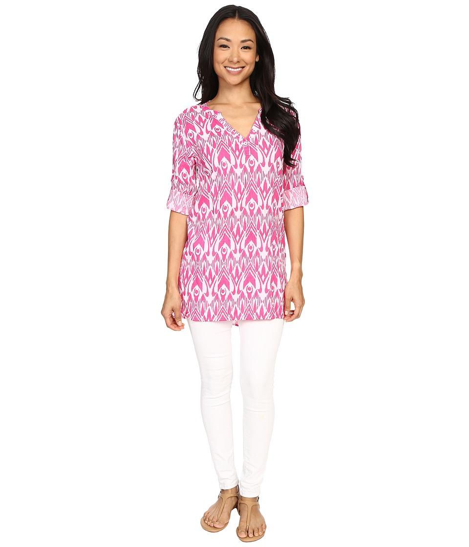 Hatley - Classic Tunic (Fuchsia Ikat) Women's Clothing