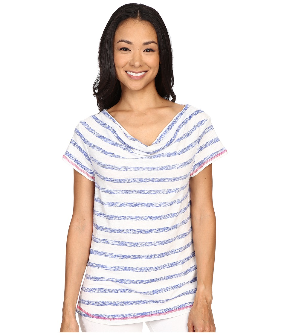 Hatley - Cowel Neck Top (Blue Stripes) Women's Clothing