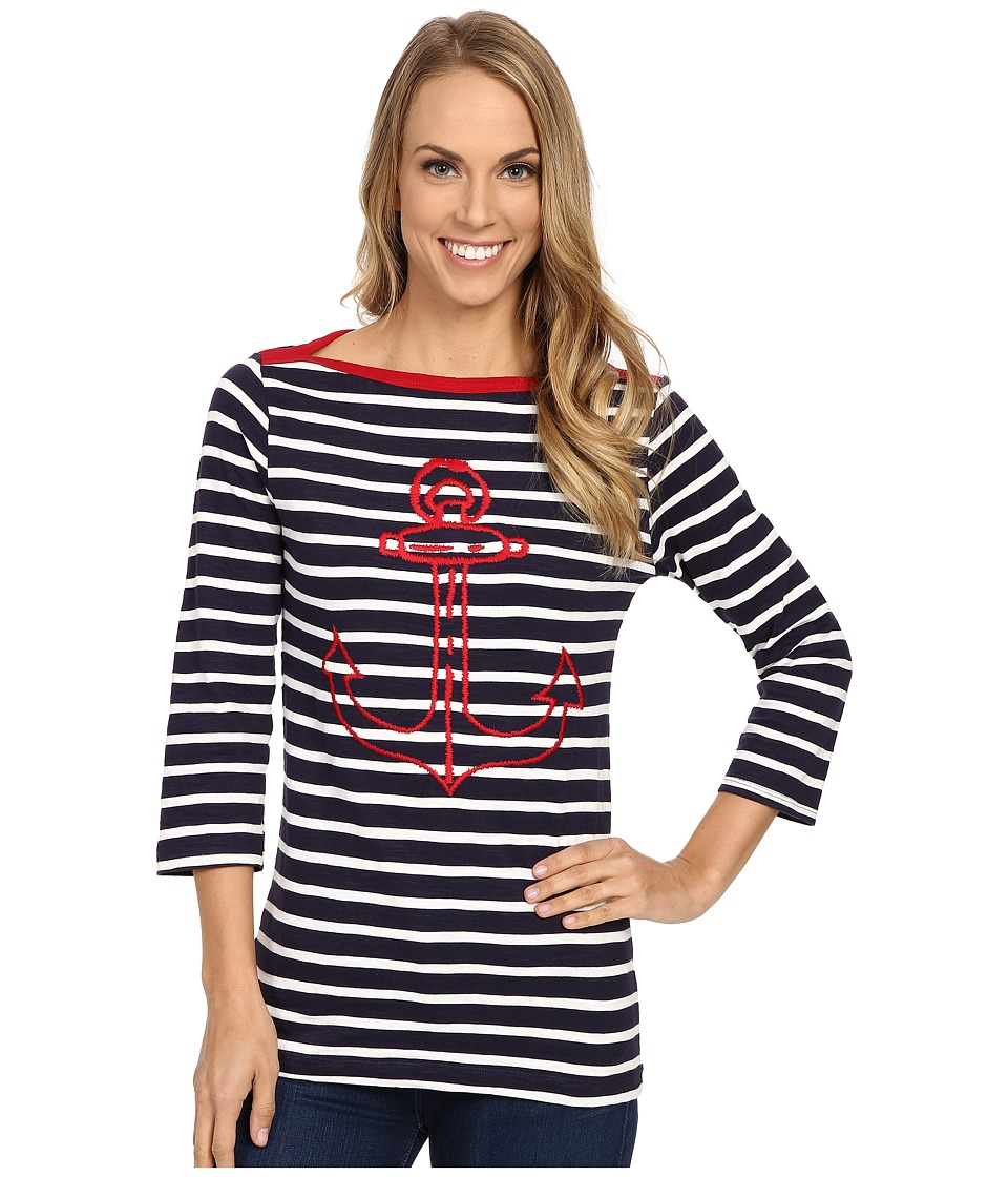 Hatley - Breton Top (Embroidered Anchor) Women's Clothing