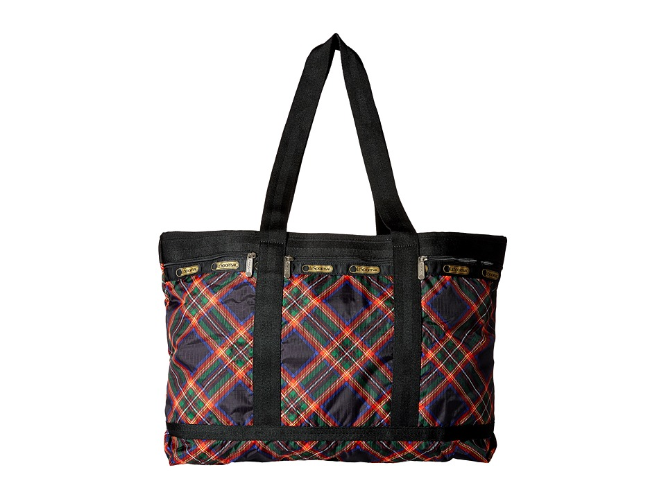 LeSportsac Luggage - Travel Tote (Cozy Plaid Black) Bags