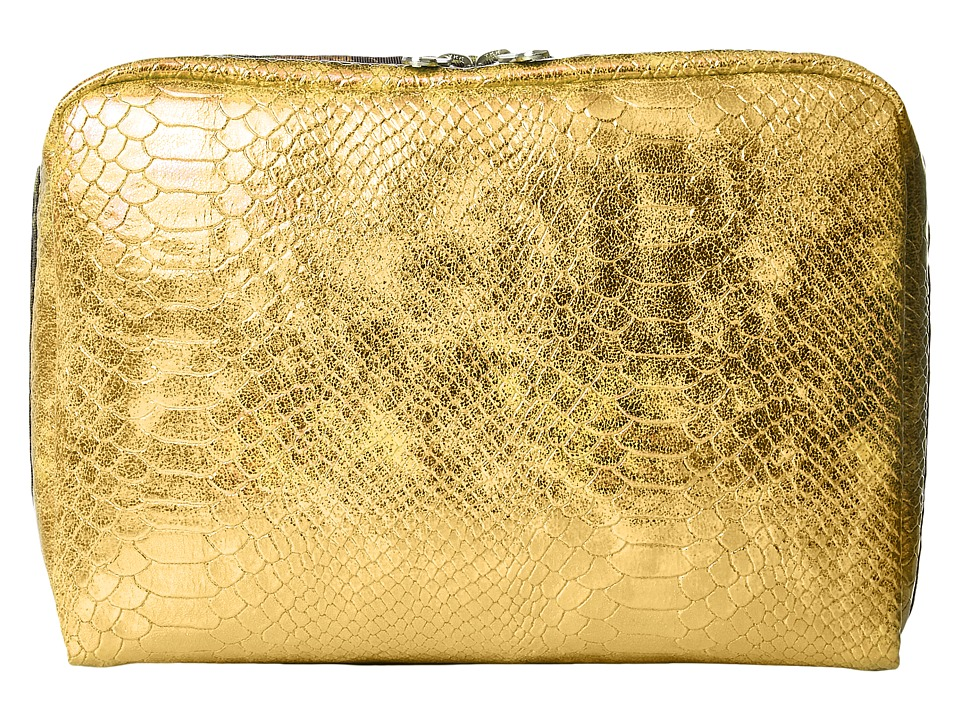 LeSportsac Luggage - Extra Large Rectangular Cosmetic (Gold Snake) Cosmetic Case