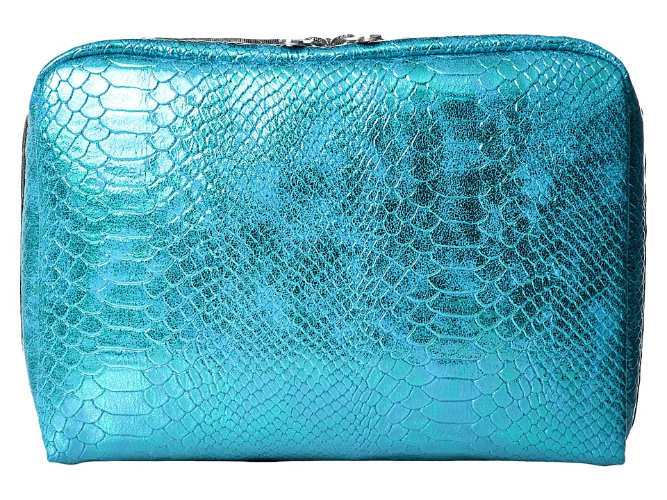 LeSportsac Luggage - Extra Large Rectangular Cosmetic (Aqua Snake) Cosmetic Case