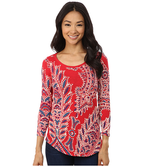 Lucky Brand - Paisley Tee (Ruby Red) Women