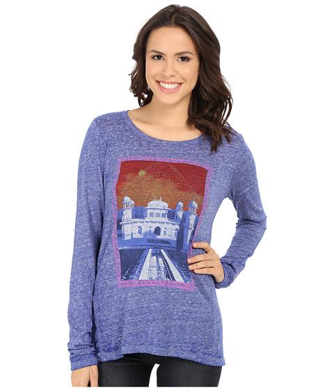 Lucky Brand - Taj Mahal Tee (Vibrant Blue) Women's T Shirt