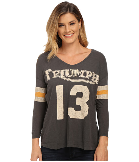Lucky Brand - Triumph Athletic Tee (Charcoal) Women's T Shirt
