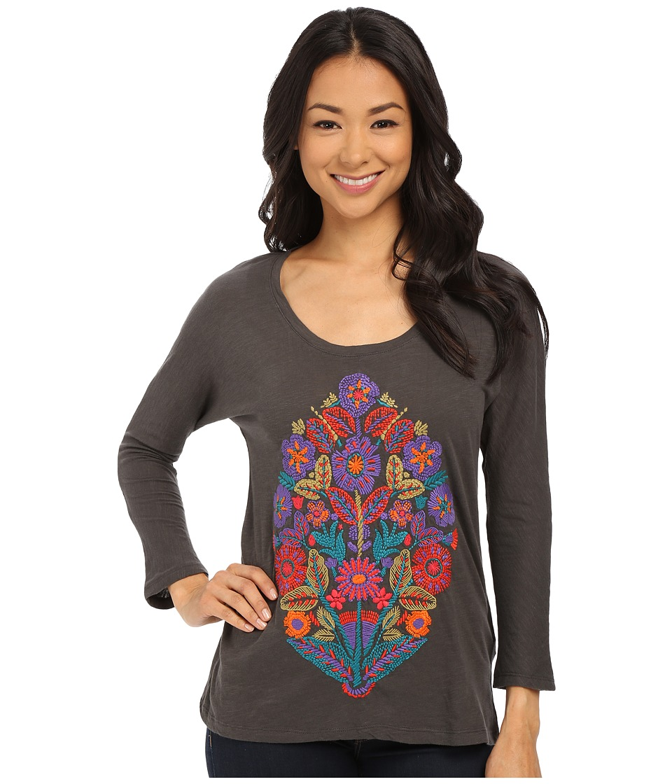 Lucky Brand - Pop Bouquet Tee (Black Mountain) Women's T Shirt