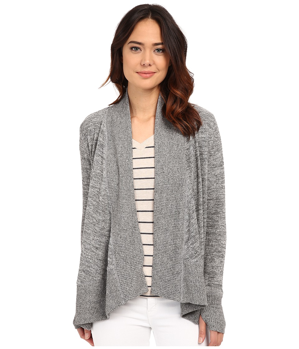 Mod-o-doc - Heather Sweater Shawl Collar Cardigan (Grey) Women's Sweater