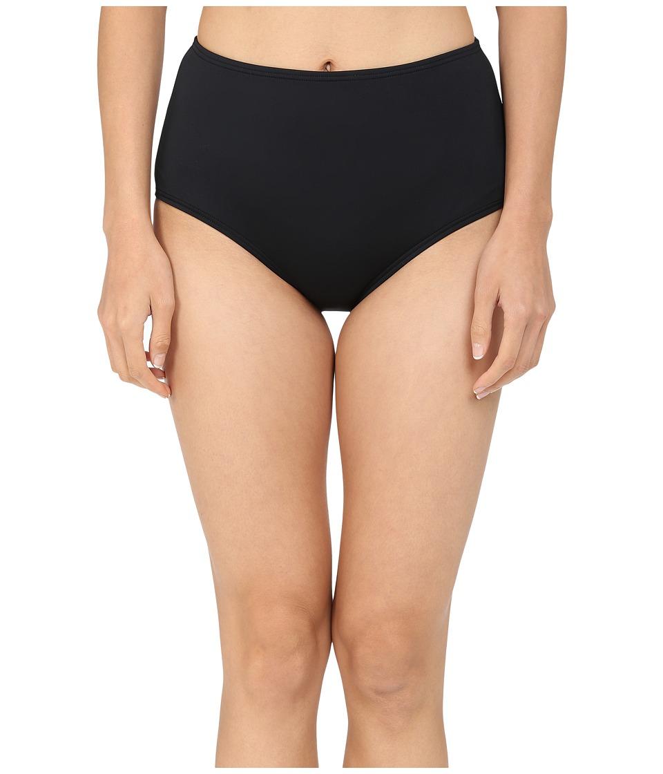 Kate Spade New York - Georgica Beach High Waist Bottom (Black 1) Women's Swimwear