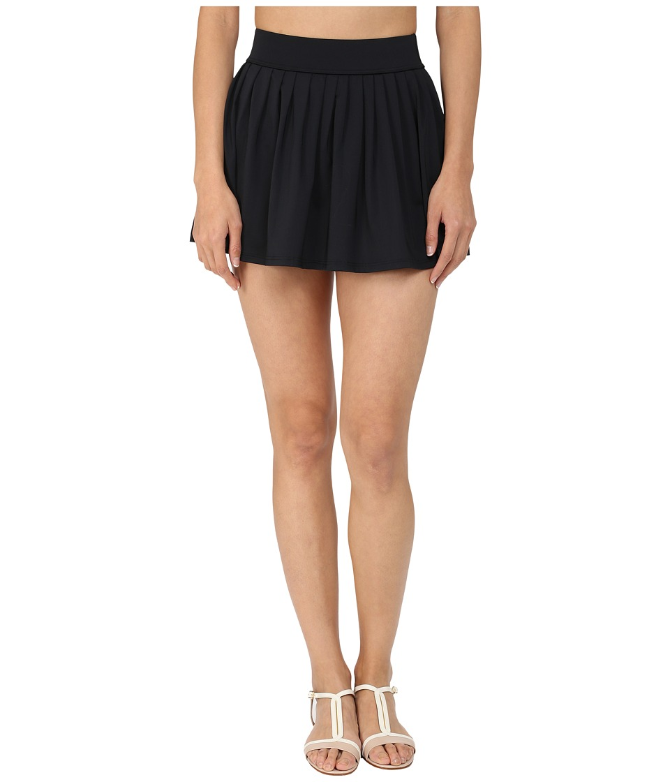 Kate Spade New York Georgica Beach Pleated Cover Up Skirt (Black 1) Women