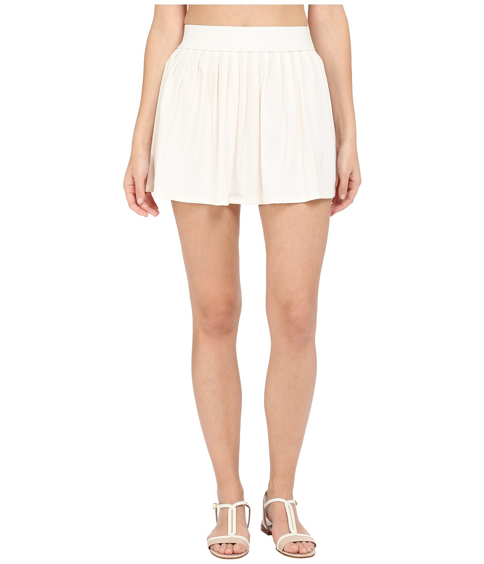 Kate Spade New York - Georgica Beach Pleated Cover Up Skirt (Cream 1) Women's Swimwear