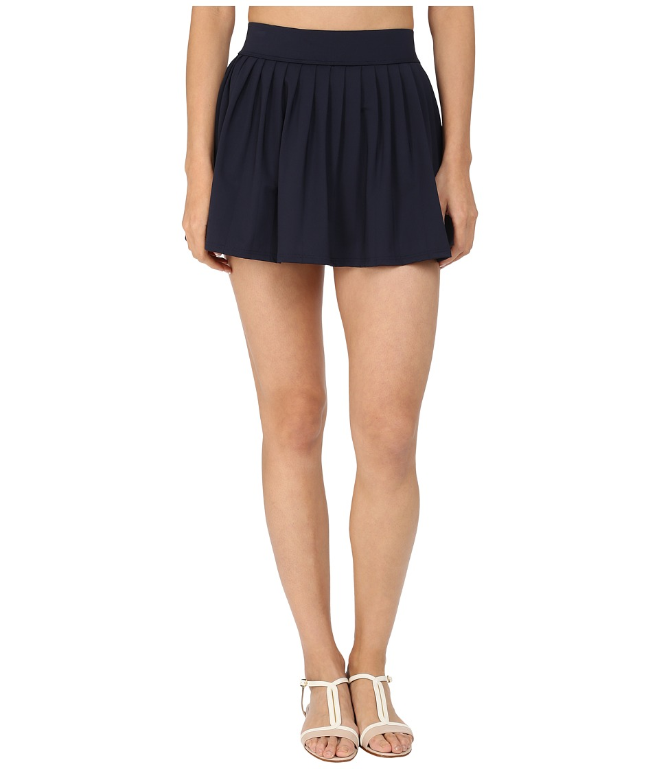 Kate Spade New York - Georgica Beach Pleated Cover Up Skirt (Rich Navy 1) Women's Swimwear