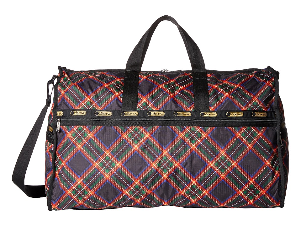 LeSportsac Luggage - Extra Large Weekender (Cozy Plaid Black) Duffel Bags