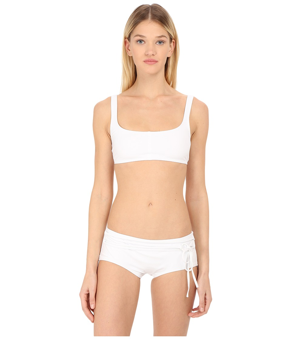 Proenza Schouler - Solids Sporty Bra Set (White) Women's Swimwear Sets