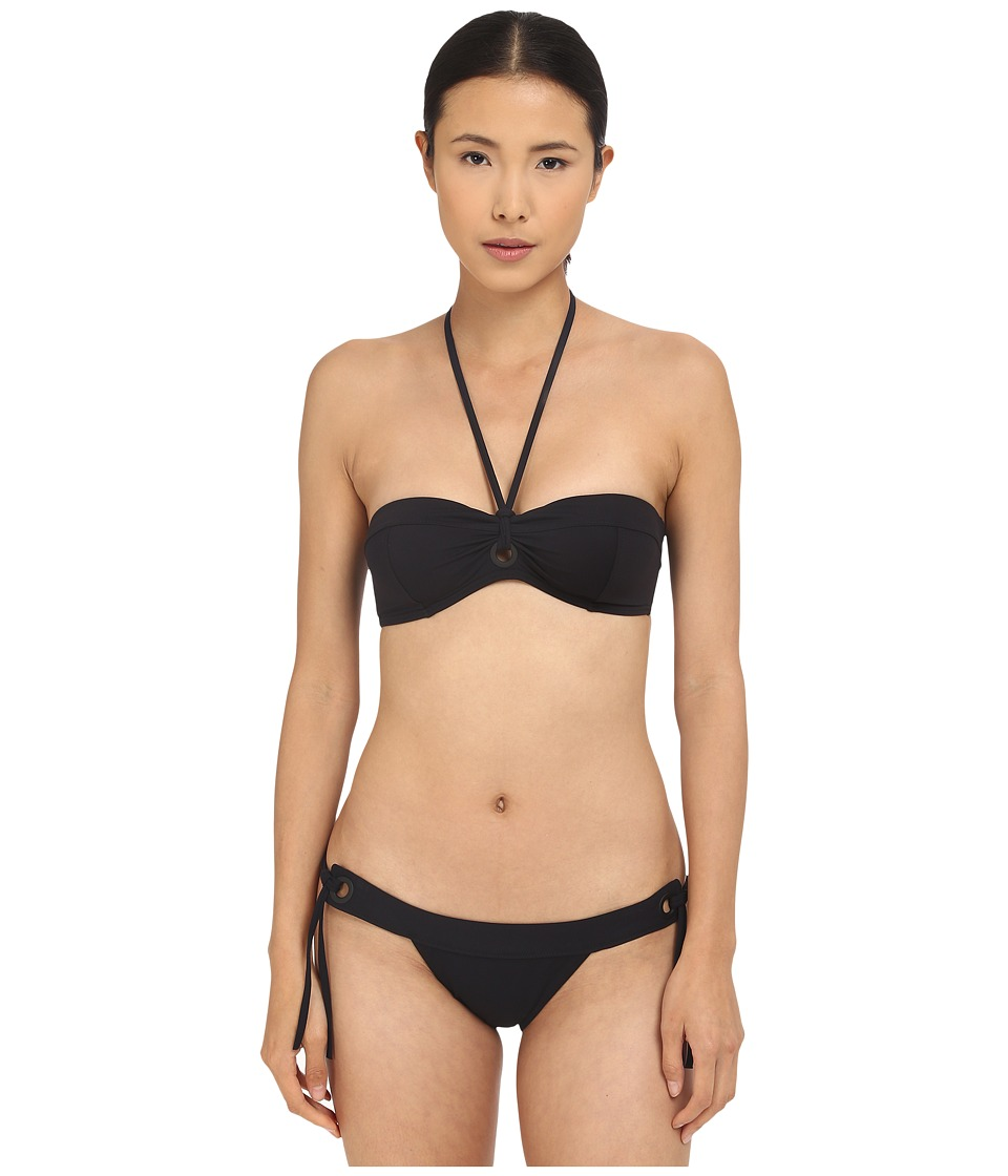 Proenza Schouler Solids Grommet Bikini Set (Black) Women
