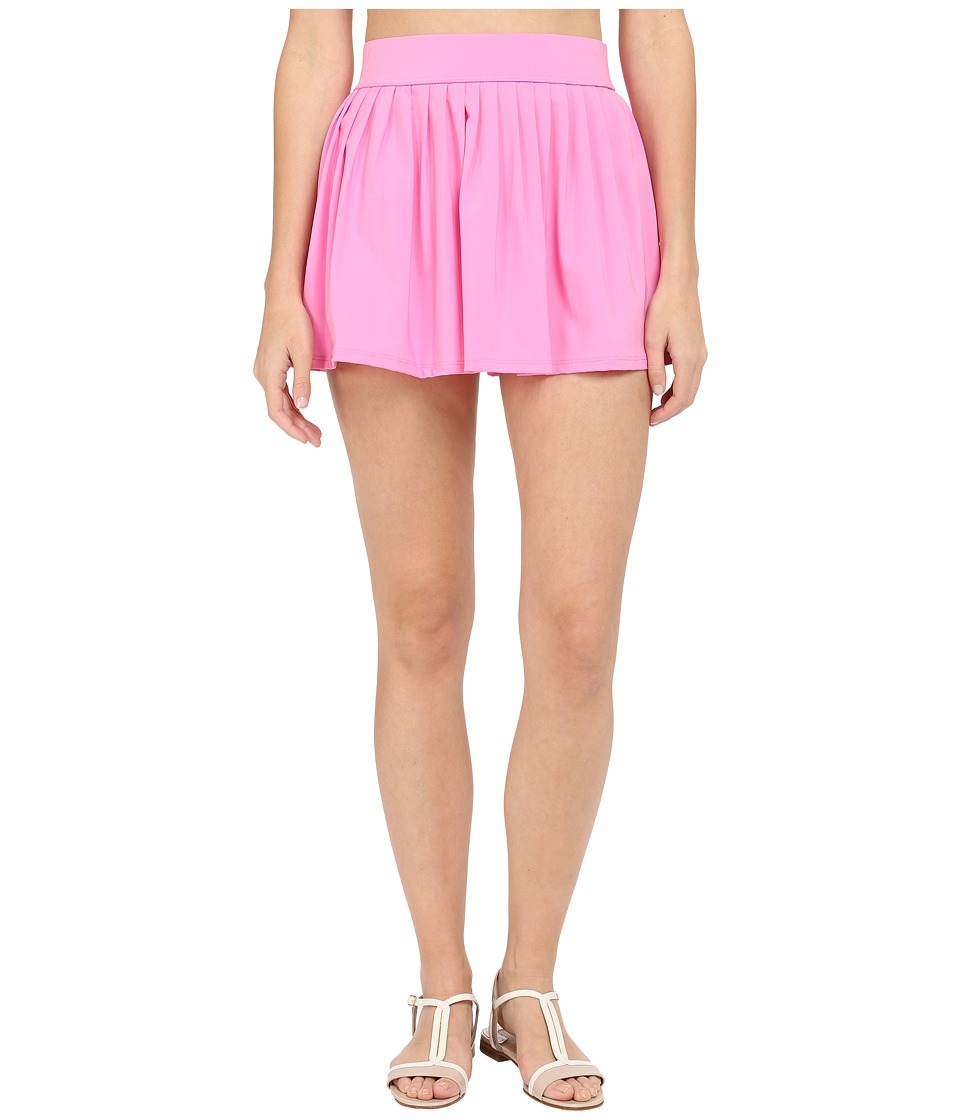 Kate Spade New York - Georgica Beach Pleated Cover Up Skirt (Vibrant Pink) Women's Swimwear